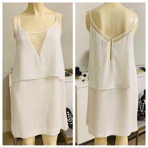Mango - White layered dress